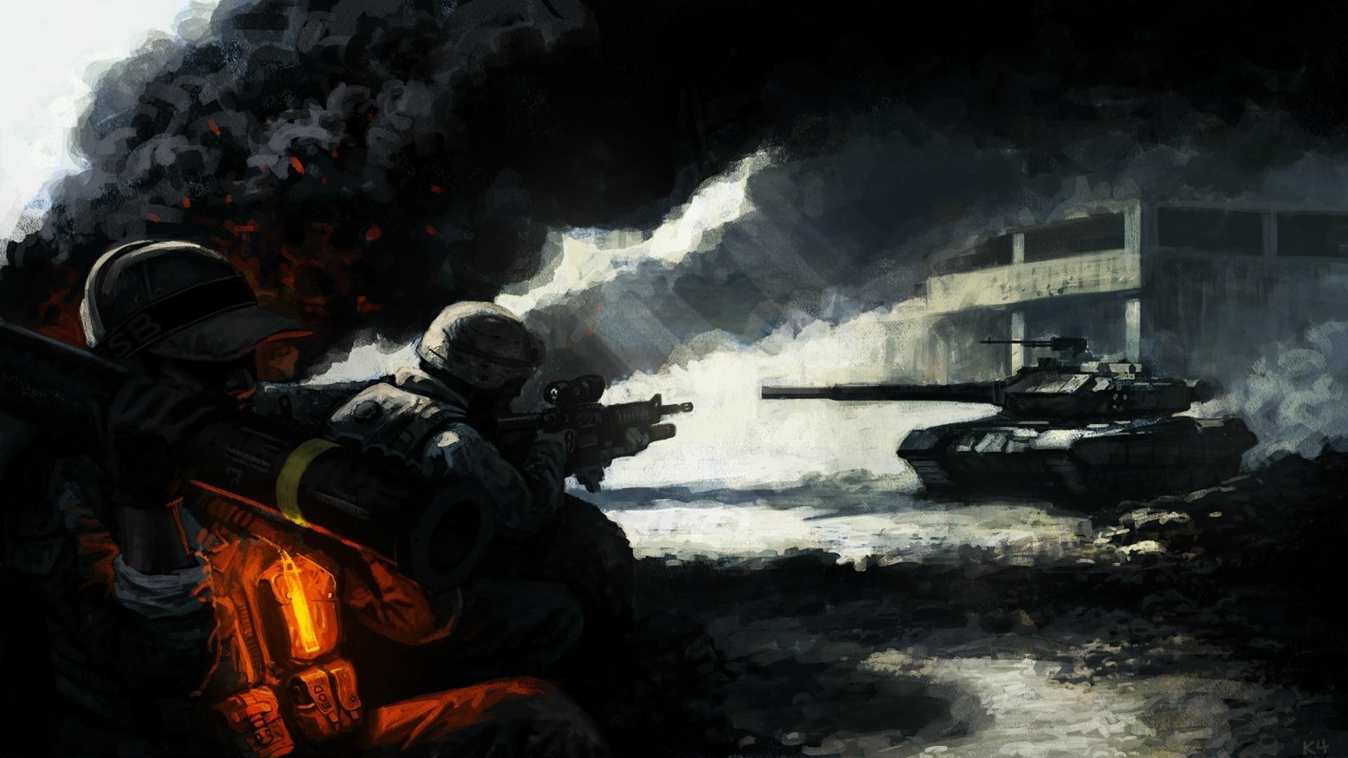 334423_art_soldaty_pexota_tank_oruzhie_dym_pepel_svet_zda_1920x1080_www.GdeFon.ru_